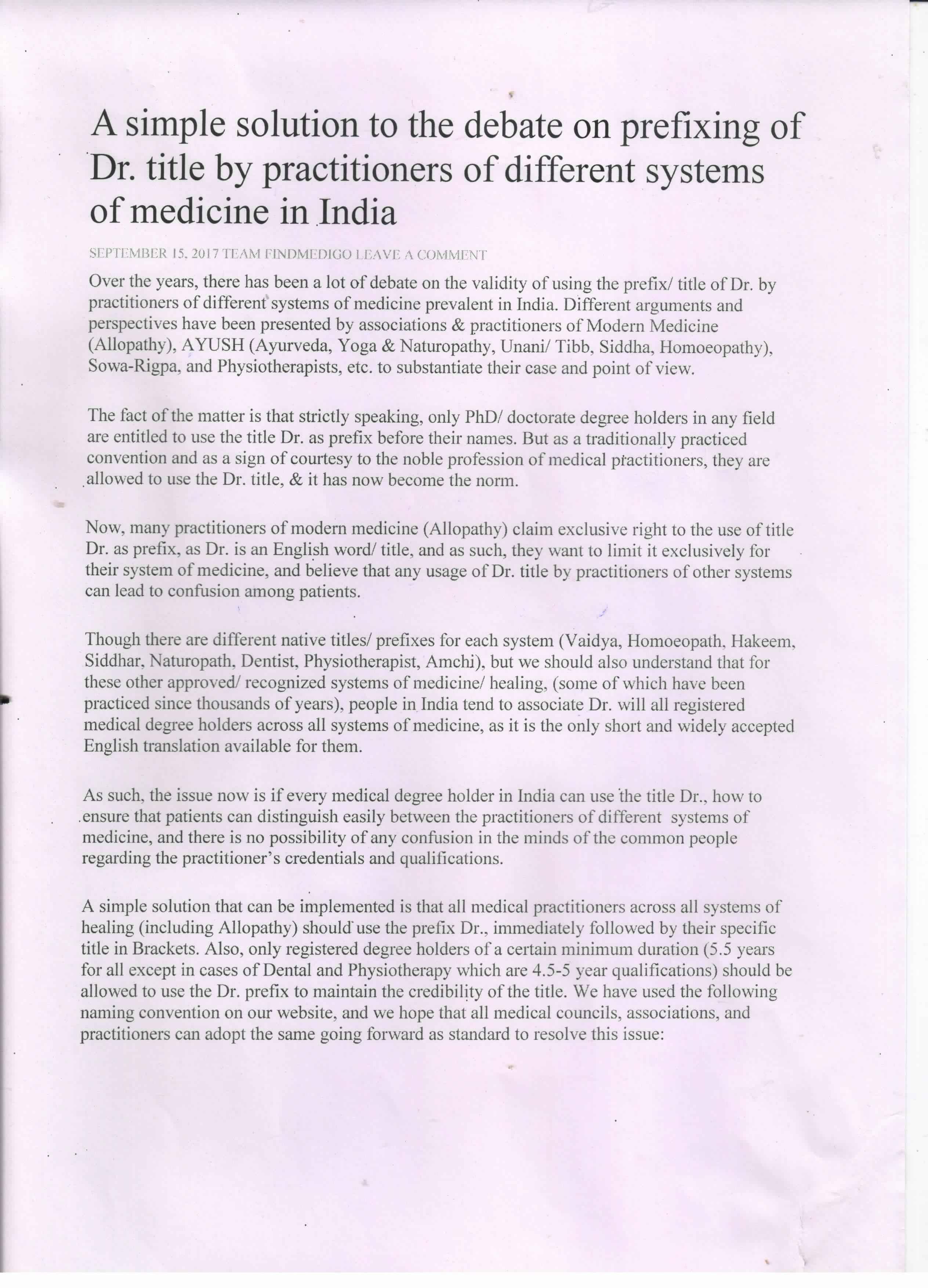 Our Legal Term - Rural Health Organization